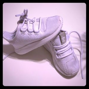All white Adidas for toddler